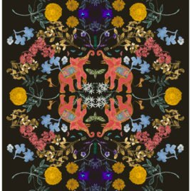 Elephant & Marigolds Print