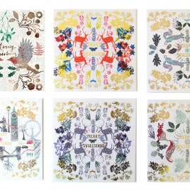 'British Winter' Christmas Cards (pack of 6)