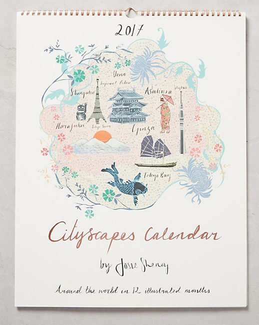 Anthropologie Cityscapes Calendar