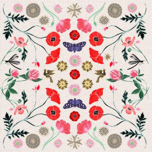 Josie Shenoy Poppy Kaleidoscope Card