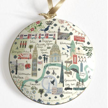 Josie Shenoy London Map Christmas Decoration