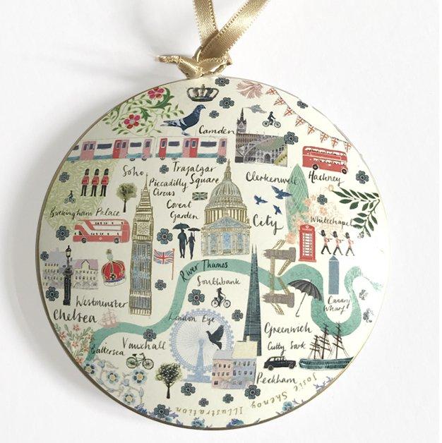 Josie Shenoy London Map Christmas Decoration