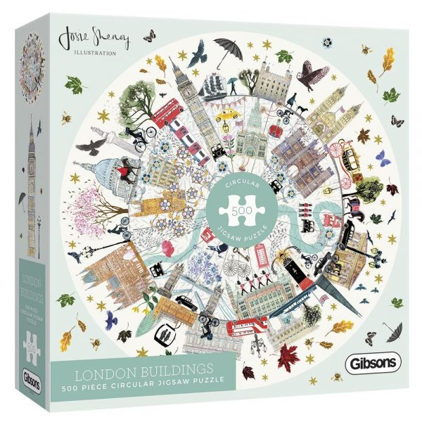 Josie Shenoy - Gibsons London Buildings Jigsaw Puzzle