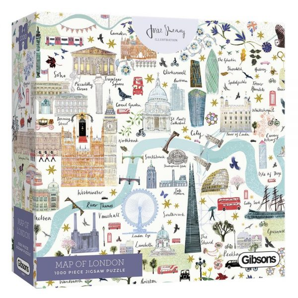 Josie Shenoy - Gibsons Map of London Jigsaw Puzzle