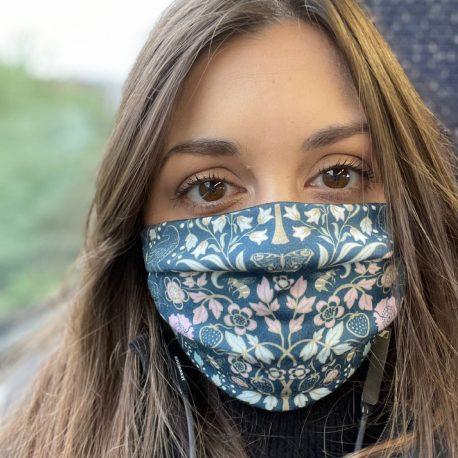 Josie Shenoy Face Mask - English Garden Teal