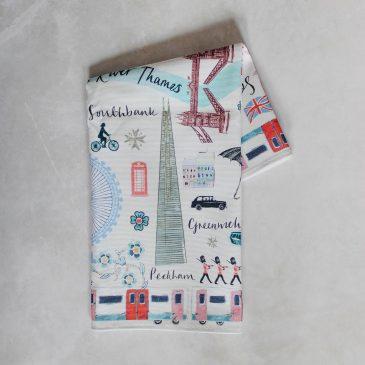 Josie Shenoy Tea Towel London Map