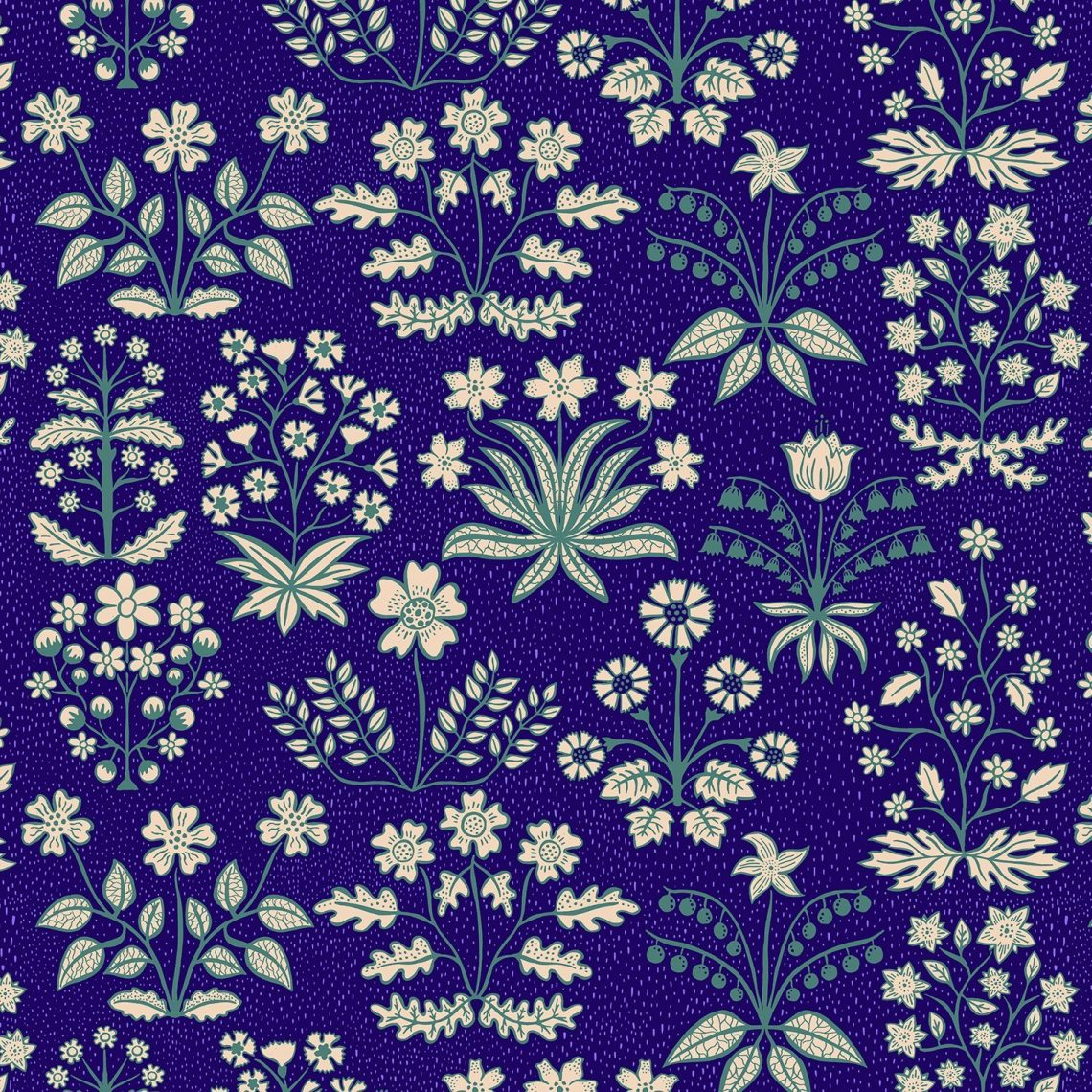 Josie Shenoy Botanica Fabric - Blue
