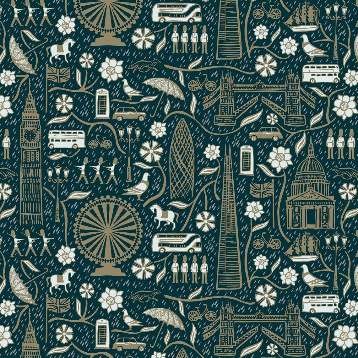 Josie Shenoy London Life Fabric - Evening