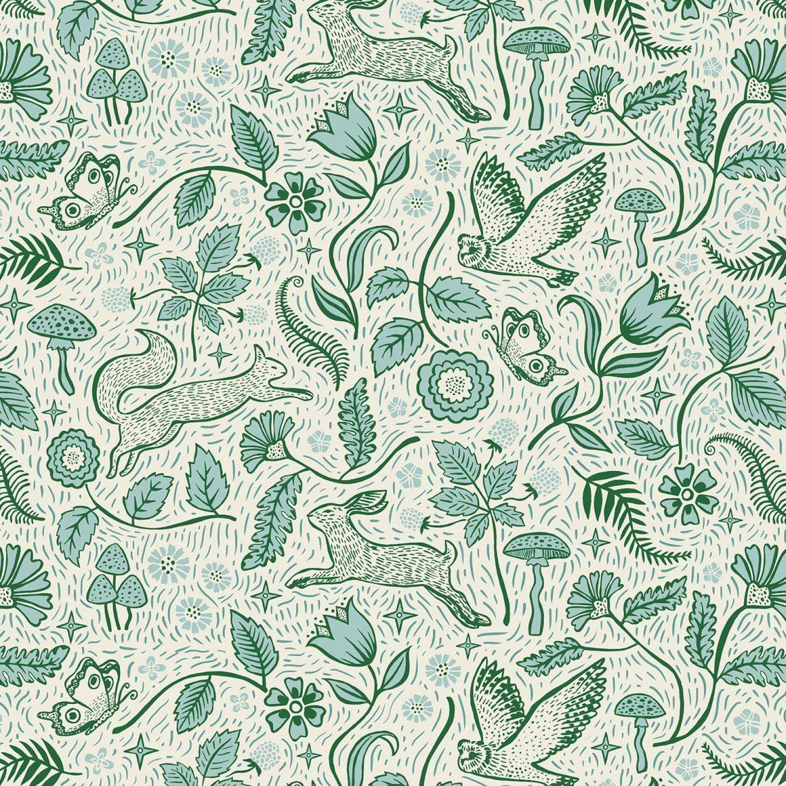 Josie Shenoy Woodland Fabric - Dawn